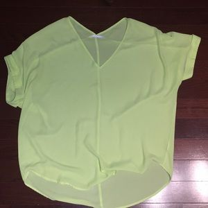 Lush brand fluorescent yellow top